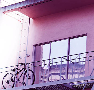 Bike On My Balcony Poster by Artist and Photographer Laura Wrede