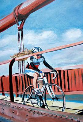 Bike On The Golden Gate Bridge Poster