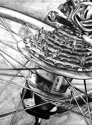 Bike Park Poster by Celia Feldberg