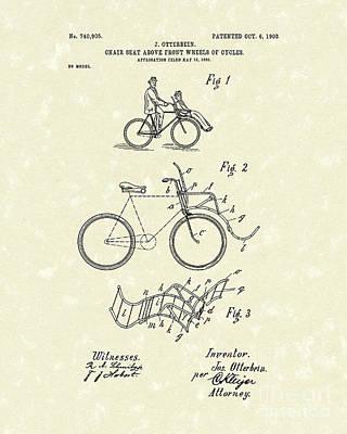 Bike Seat 1903 Patent Art Poster