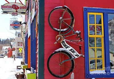 Bike Shop Poster by Fiona Kennard