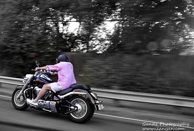 Poster featuring the photograph Biker by Gandz Photography