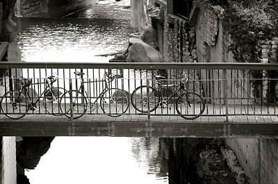Bikes Over Waller Creek Poster