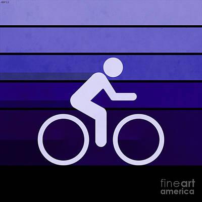 Biking Violet Poster by Phil Perkins