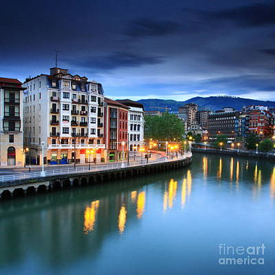 Poster featuring the photograph Bilbao 2 by Mariusz Czajkowski