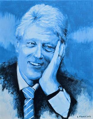 Bill Clinton Poster by Victor Minca