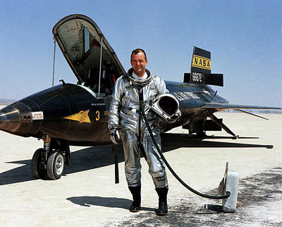 Bill Dana As X-15 Test Pilot Poster by Nasa
