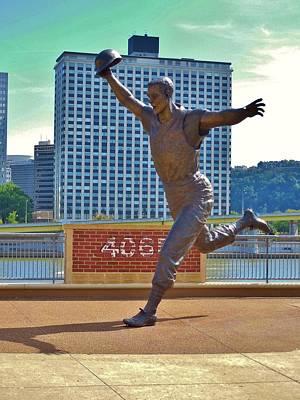 Bill Mazeroski Statue Poster by Anthony Thomas
