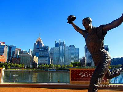 Bill Mazeroski Statue Celebrates Pittsburgh Poster by Matthew Peek