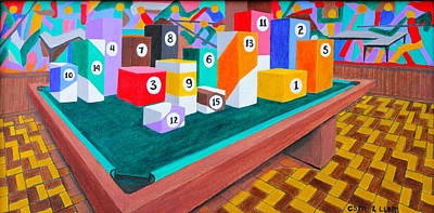 Poster featuring the painting Billiard Table by Lorna Maza