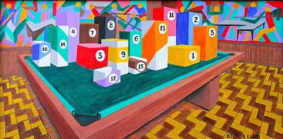 Billiard Table Poster by Lorna Maza
