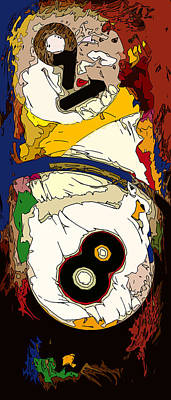 Billiards 8 And 9 Ball Abstract Poster