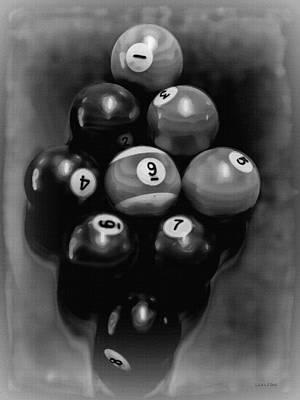 Billiards Art - Your Break - Bw  Poster by Lesa Fine
