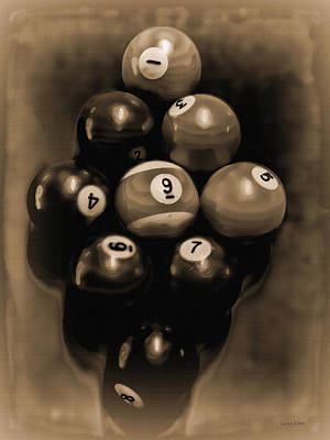 Billiards Art - Your Break - Bw Opal Poster