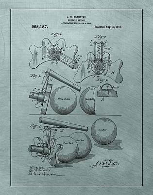 Billiards Bridge Patent Poster