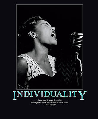 Billie Holiday Individuality   Poster by Retro Images Archive