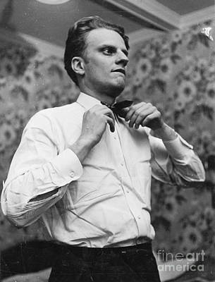 Billy Graham Jr. Preparing To Speak In Boston 1950 Poster by The Harrington Collection