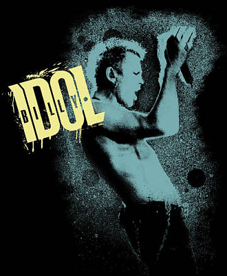 Billy Idol - Graffiti Art Poster by Epic Rights