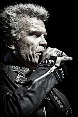 Billy Idol Live In Concert 3  Poster by Jennifer Rondinelli Reilly - Fine Art Photography