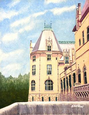 Poster featuring the painting Biltmore Balcony by Stacy C Bottoms