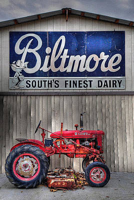 Poster featuring the photograph Biltmore Farmall by Craig T Burgwardt