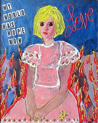 Poster featuring the painting Bipolar by Lisa Piper