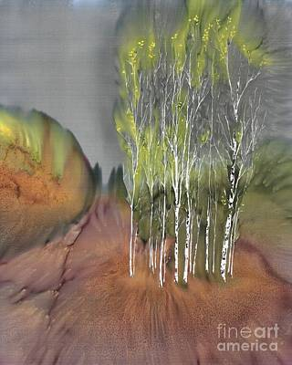 Birch Grove 1 Poster by Carolyn Doe
