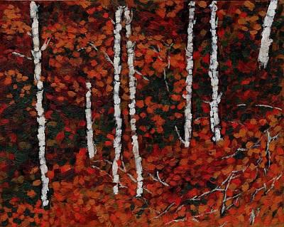 Birches Poster by David Dossett