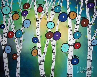 Birches Poster by Karla Gerard