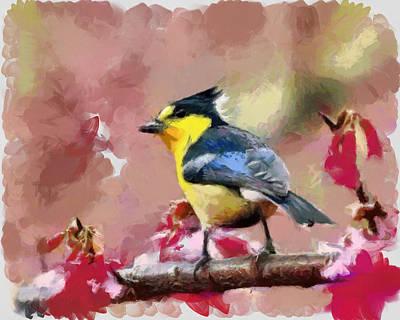Bird And Flover Poster by Georgi Dimitrov