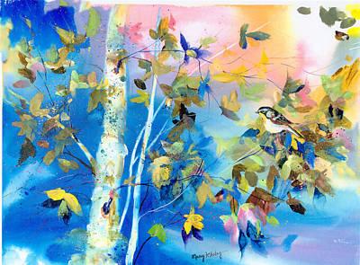 Bird In Blue Poster