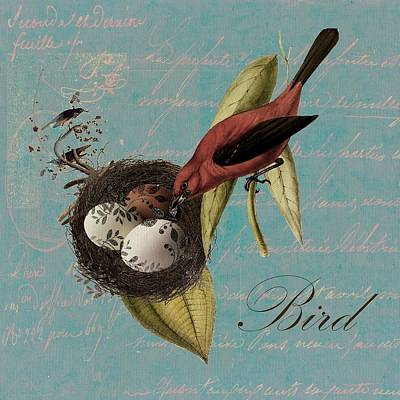 Bird Nest - 02v02t01 Poster by Variance Collections