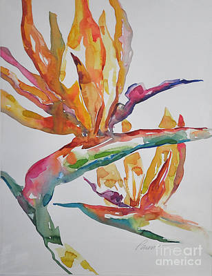 Poster featuring the painting Bird Of Paradise #2 by Roger Parent