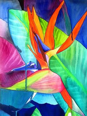 Bird Of Paradise Strelitzia Poster by Sacha Grossel