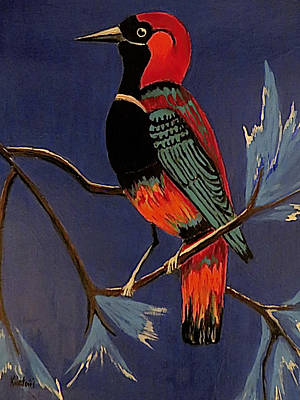 Bird On A Branch Poster by Kathleen Sartoris