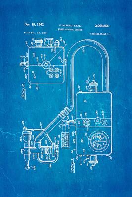 Bird Respirator Patent Art 1962 Blueprint Poster