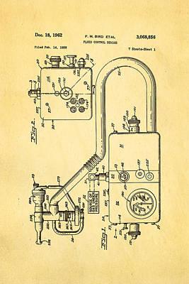 Bird Respirator Patent Art 1962 Poster by Ian Monk