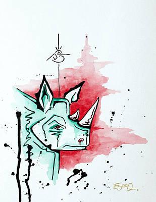 Bird Vs. Rhino  Poster