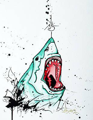 Bird Vs. Shark Poster by Emily Pinnell