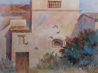 Birds At Carmel Mission Poster