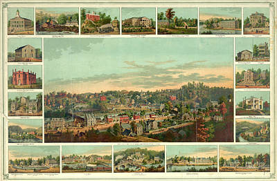 Birds Eye View Of Ellicotts Mills Poster by Litz Collection