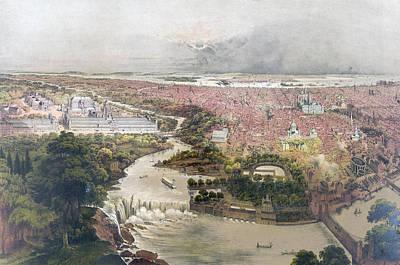 Birds Eye View Of Philadelphia & Centennial Grounds By John Poster by Litz Collection