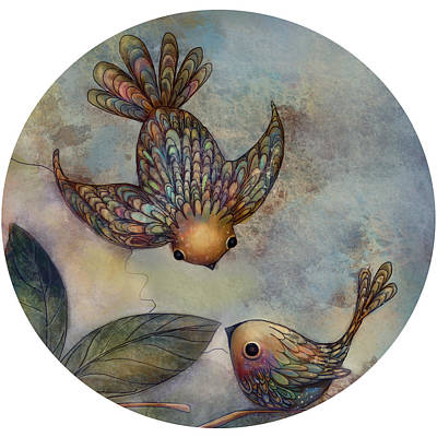 Birds Of Paradise Poster by Karin Taylor