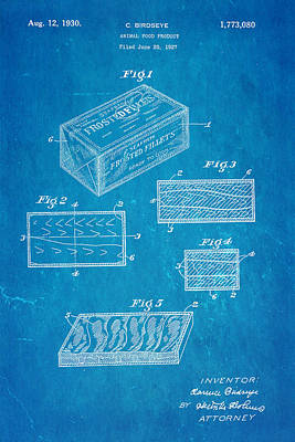 Birdseye Frozen Food Patent Art 1930 Blueprint Poster by Ian Monk