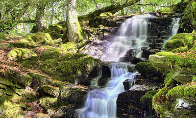 Birks Of Aberfeldy Cascading Waterfall - Scotland Poster by Jason Politte