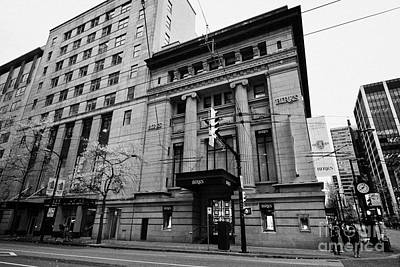 birks place originally the commerce bank hastings west Vancouver BC Canada Poster