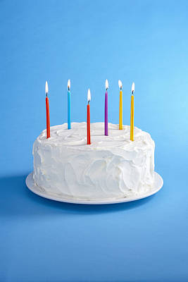 Birthday Cake With Candles Poster
