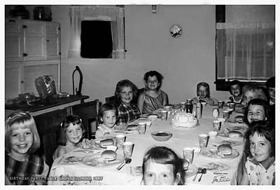 Birthday Party Table Grove Illinois 1957 Poster