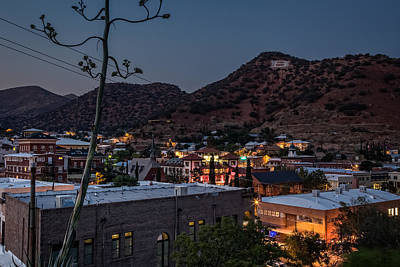 Poster featuring the photograph Bisbee At Night by Beverly Parks