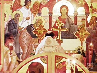 Bishop Michael At The Altar Poster